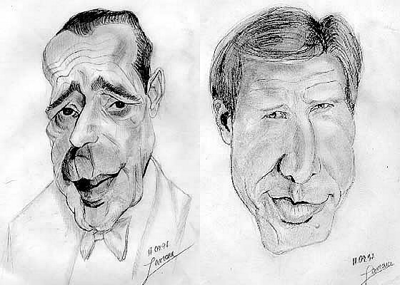 drawing after Jean Mulatier's caricatures