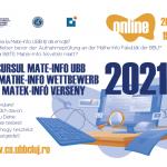 Facultatea de Matematică şi Informatică organizează ȋn acest an un examen de SIMULARE a concursului de admitere 2021 prin Concursul Mate-Info UBB